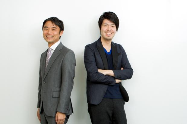 写真右:川村元気(映画プロデューサー、小説家)、写真左:岩瀬大輔(ライフネット生命保険株式会社代表取締役社長兼COO)
