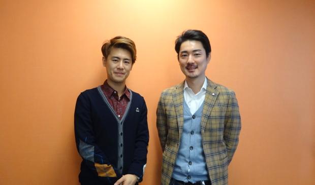 左:イセオサムさん(株式会社オモロキ) 右:新甚智志さん(株式会社キャッチボール)