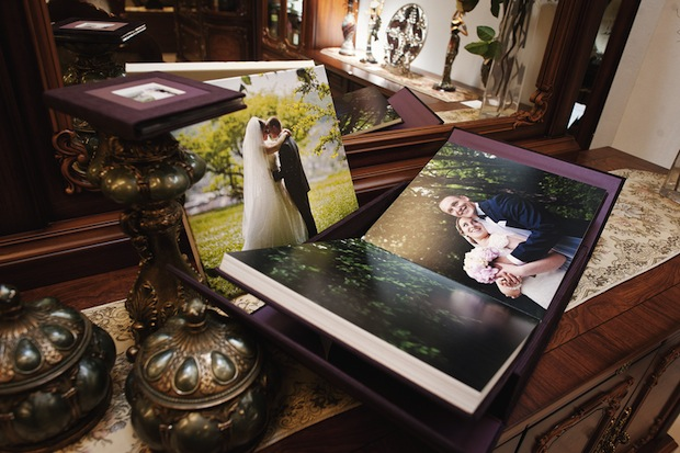 plum velvet wedding photo book album