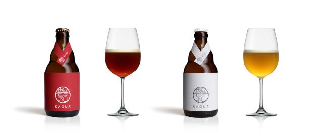 ワイングラスで飲むことで、特徴的な香りをより楽しむことができる「馨和 KAGUA」