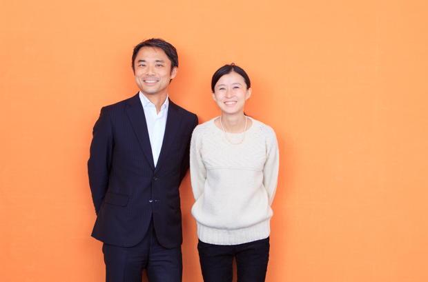 写真左:岩瀬大輔(ライフネット生命保険 社長)、右:御手洗瑞子さん(気仙沼ニッティング 代表取締役社長)