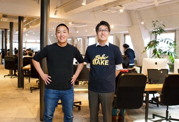 写真左:長沼真太郎さん(株式会社BAKE 代表取締役CEO)、右:印牧正貴さん(同 海外事業部部長)