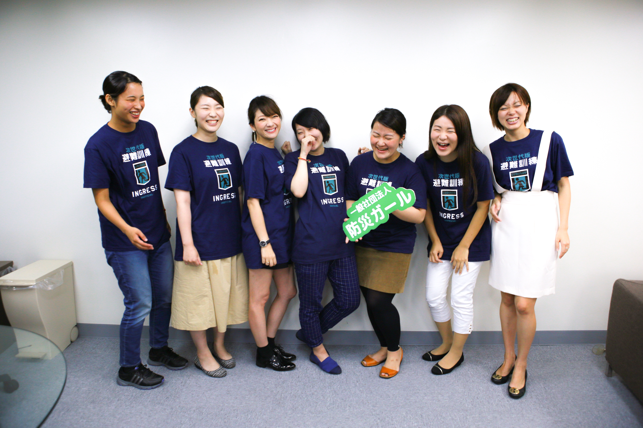 写真右から3番目、田中美咲さん(一般社団法人防災ガール 代表理事)。メンバーたちと。