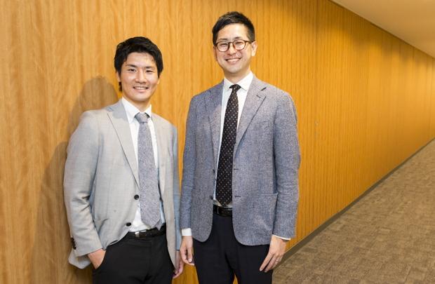 写真左:徳山正一(ライフネット生命保険株式会社)、右:鈴木琢也さん(学校法人グロービス経営大学院)