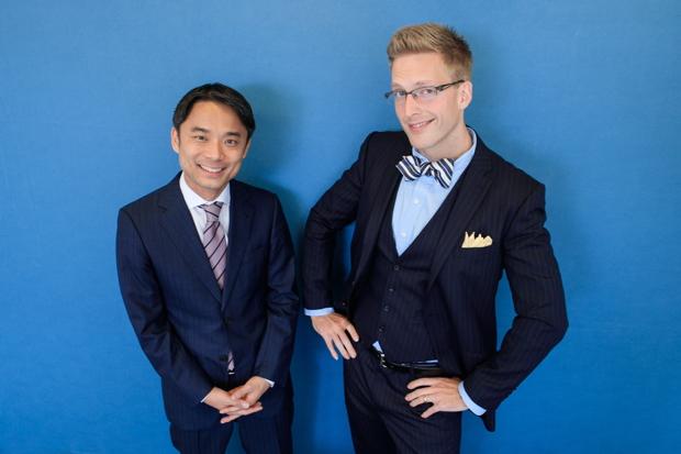 写真左:岩瀬大輔(ライフネット生命保険 社長)、右:厚切りジェイソンさん(IT企業役員、お笑い芸人)